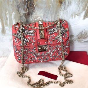 Valentino Crystal Dragonfly Small Lock Bag